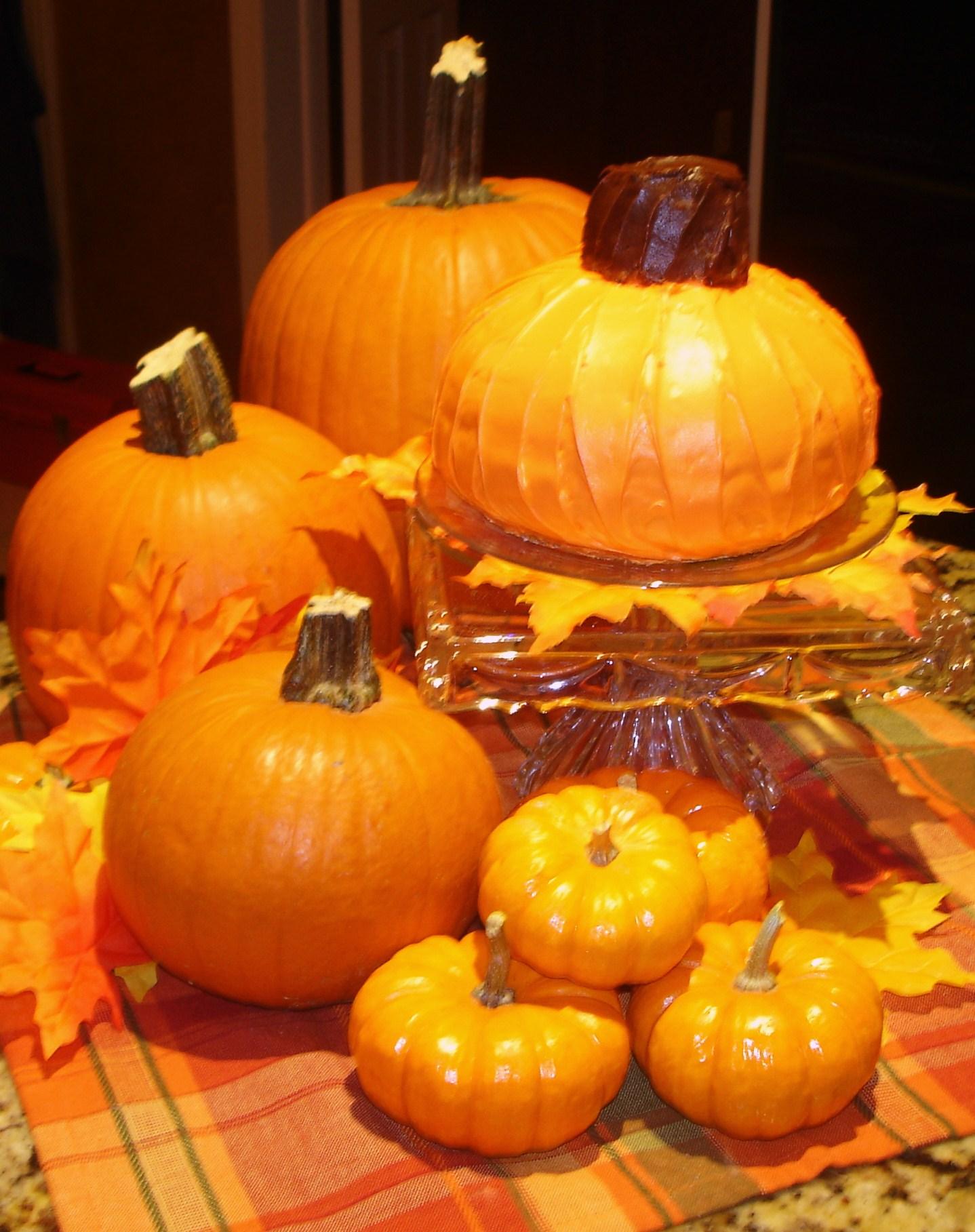 Pumpkin Shaped Orange Cake Liz Bushong