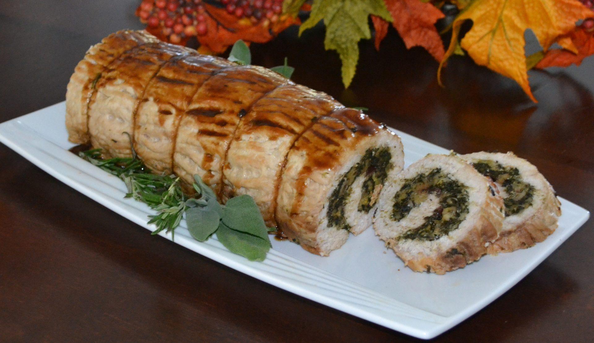 Spinach stuffed turkey breast