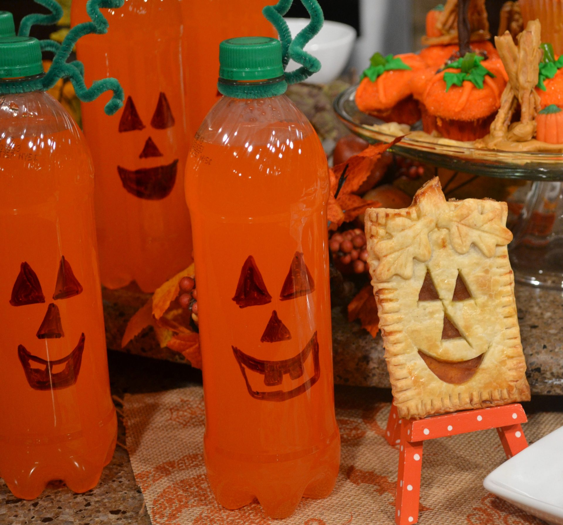 Pumpkin Pop Tarts and Orange Drinks