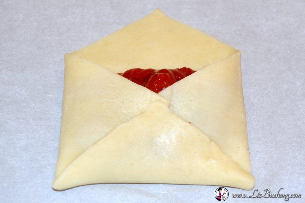 Cherry Pie Pastry Envelope  Step 3