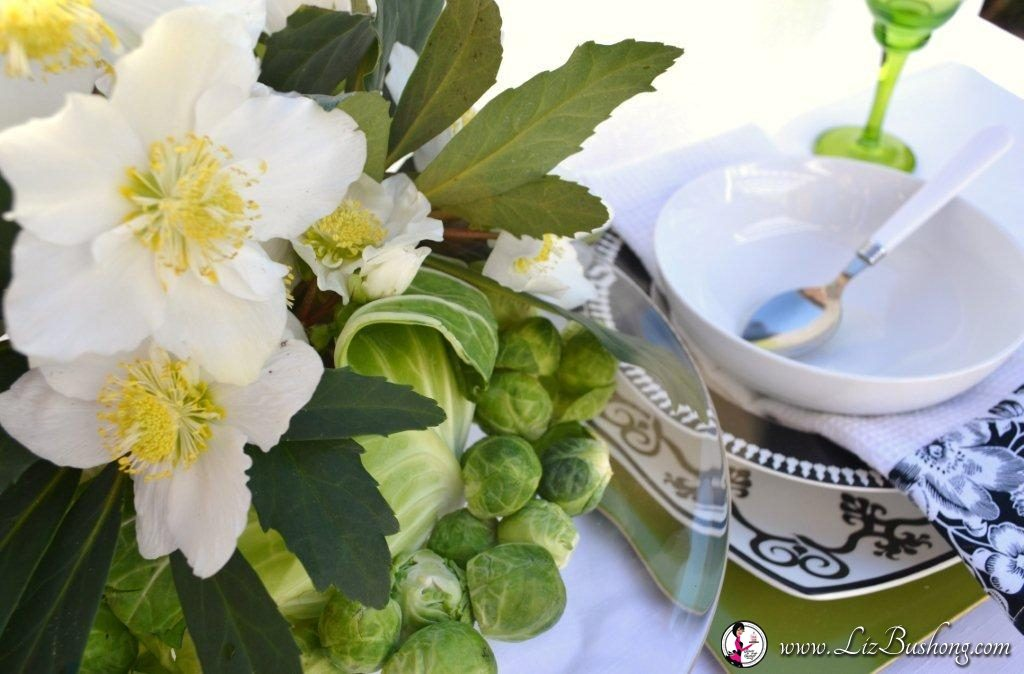 Create a Lenten Rose Centerpiece placesetting