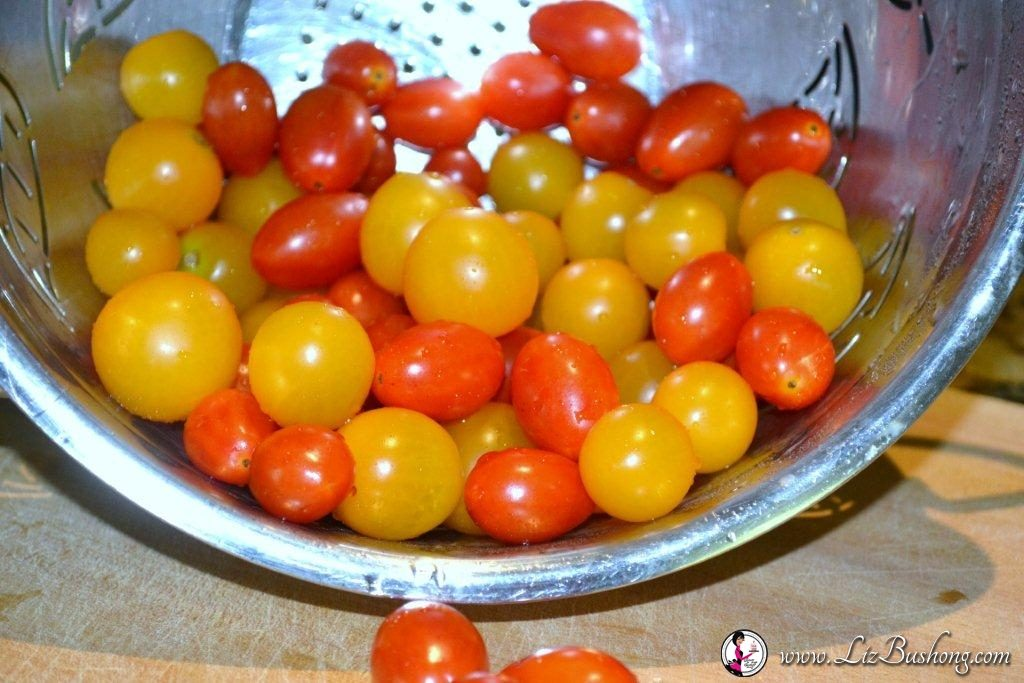 Red and Yellow Cherry Tomatoes/www.lizbushong.com