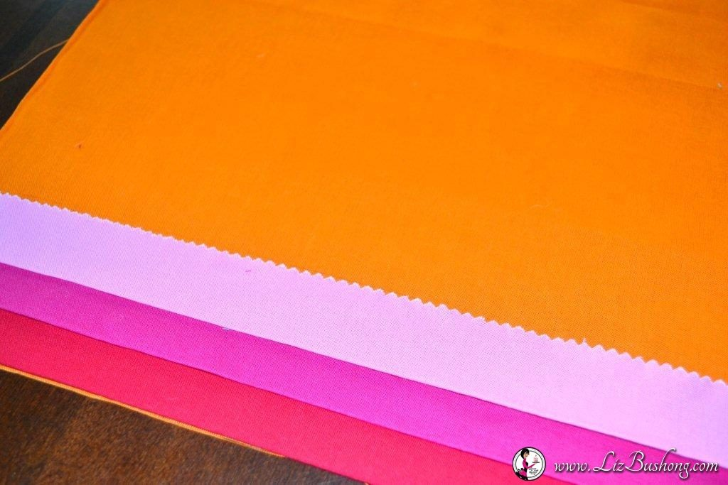 Neon Faux Pleated Pillow Tutorial  step 6 www.lizbushong.com