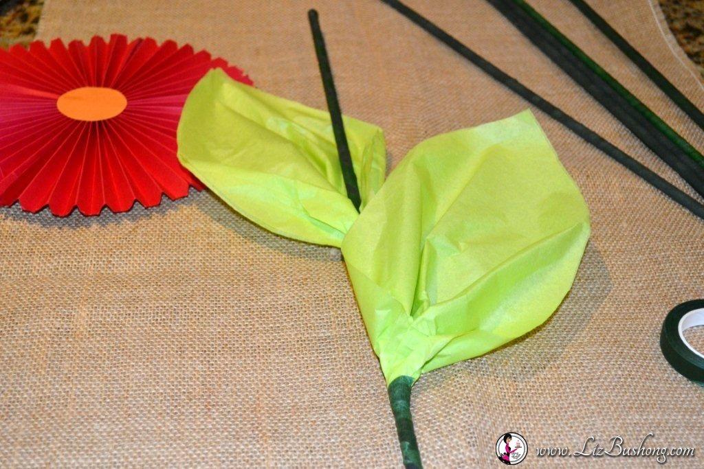 Accordion Pleated Paper Flower Tutorial www.lizbushong.com