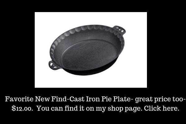 Shop -Equipment-Cast Iron Pie Plate- lizbushong.com shop page
