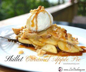 Skillet Caramel Apple Pie|www.lizbushong.com