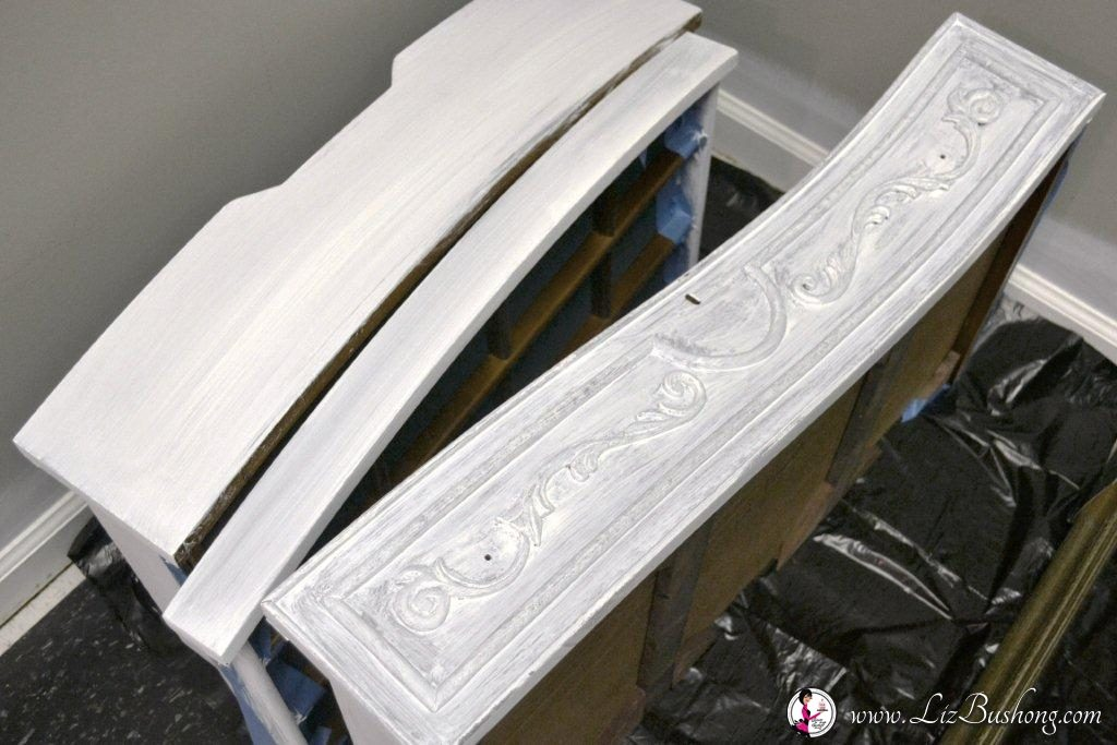 DIY Chalk Paint Pure White Armoire|www.lizbushong.com
