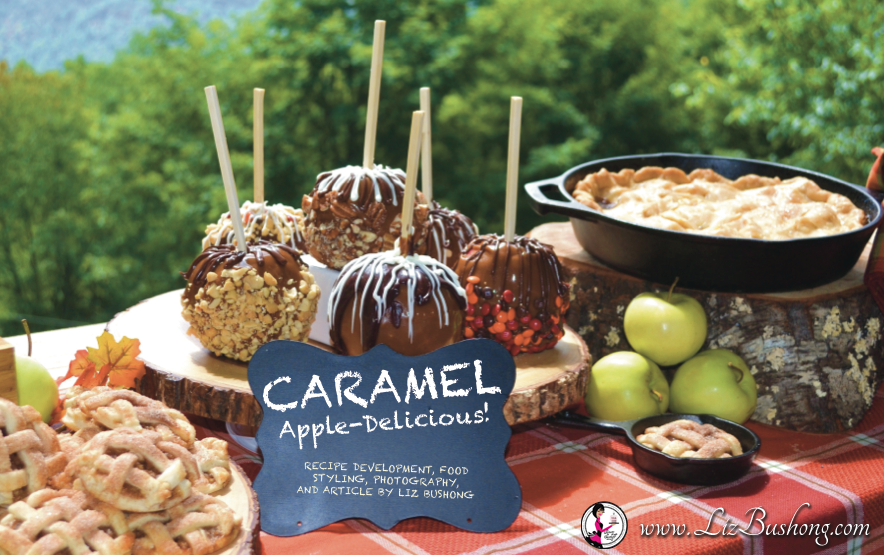 Caramel Apple Delicious tablescape|www.lizbushong.com