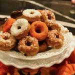 Mini Pumpkin Donut Recipe|www.lizbushong.com