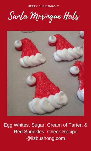 Merry Christmas!!! Santa Meringue Hats