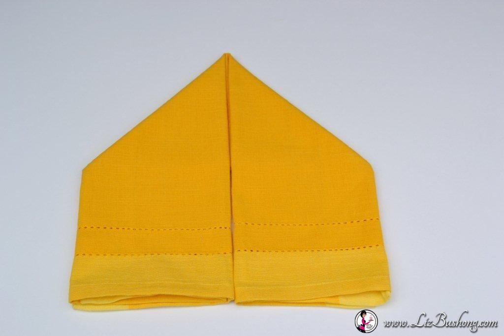 Bunny Ear napkin fold-step 8- www.lizbushong.com