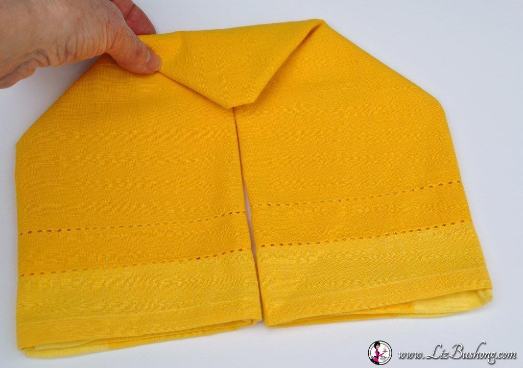 Bunny Ear napkin fold-step10-www.lizbushong.com