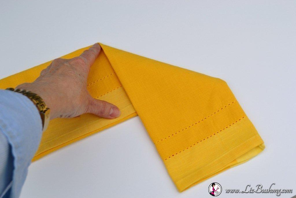 Bunny Ears- napkin-fold-step 7