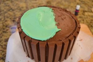aster Kit Kat Basket-frosting top of cake-www.lizbushong.com