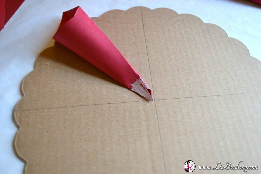 card stock cone flowers-step 16-www.lizbushong.com