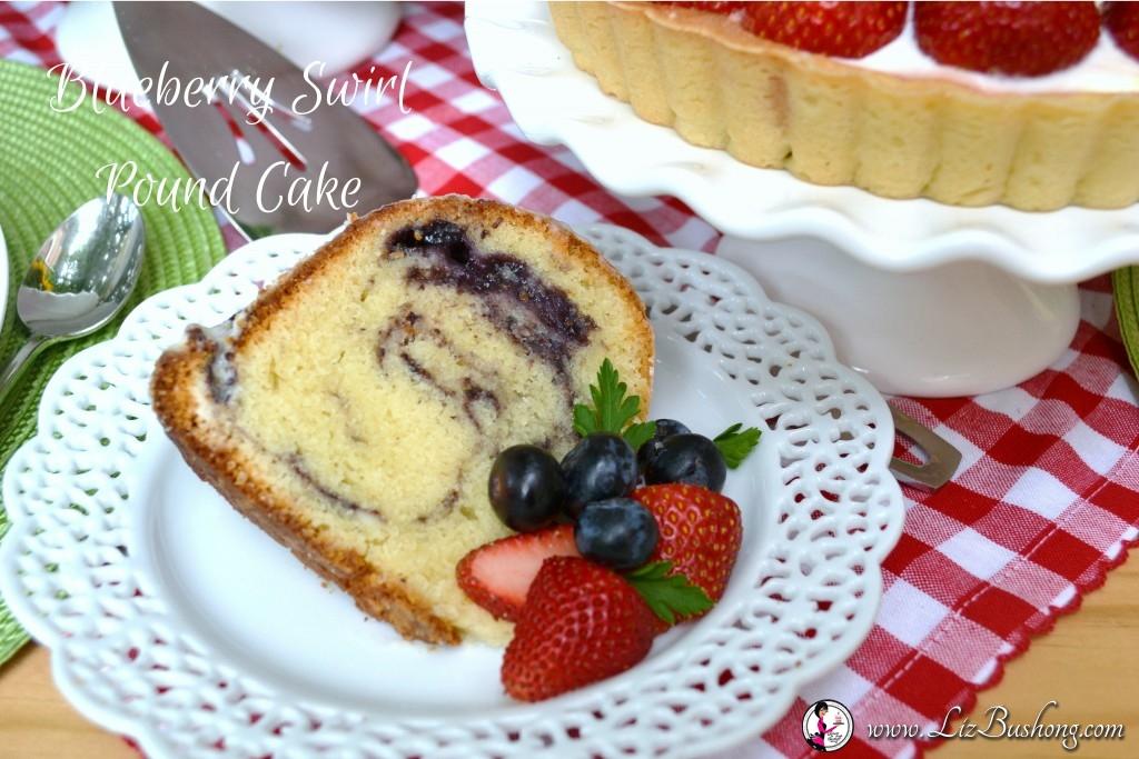 Blueberry Swirl Pound Cake|www.lizbushong.com
