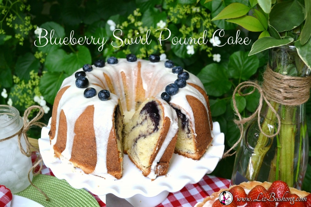 Blueberry Swirl Pound Cake with lettering-www.lizbushong.com