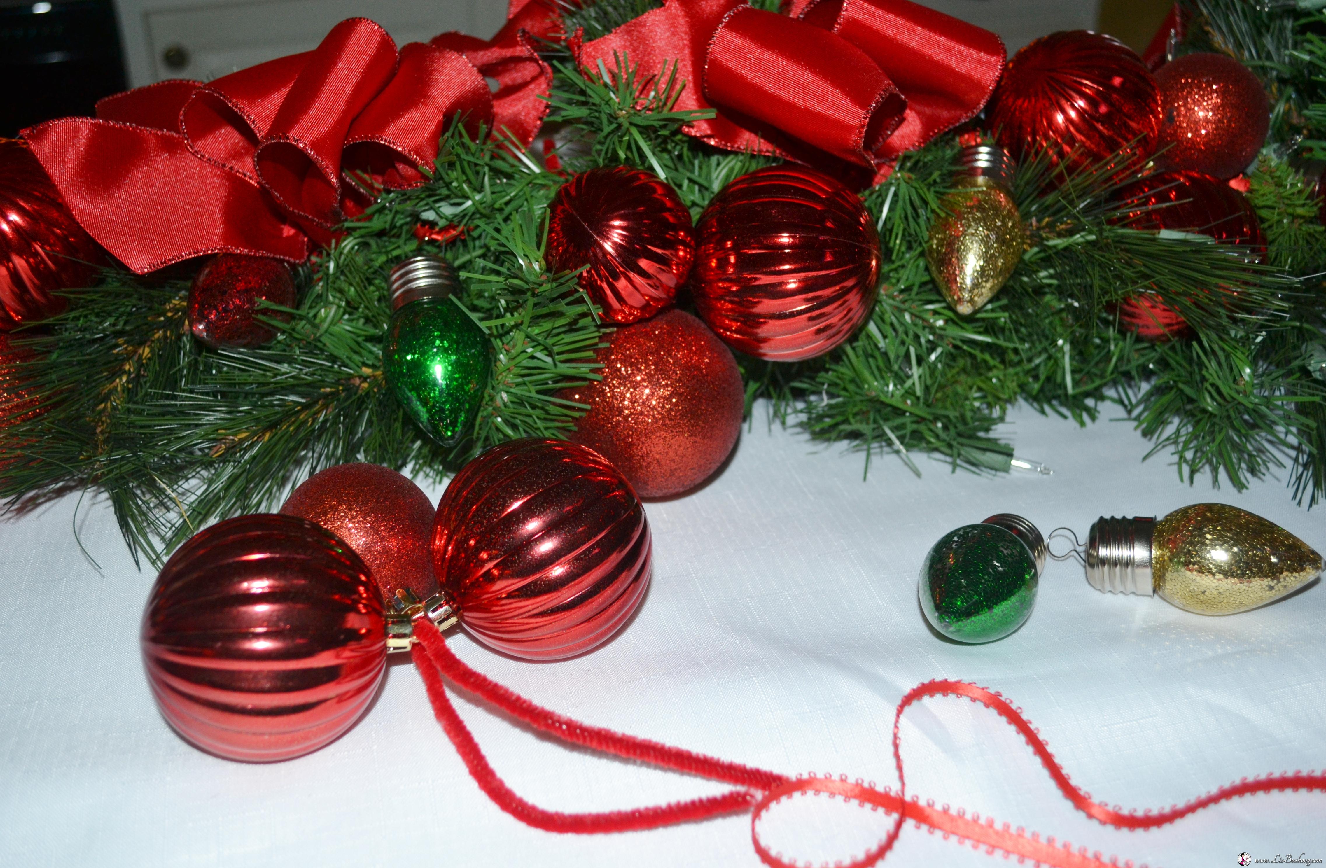 ight bulb christmas garland www lizbushong com - Christmas Tree Light Bulbs