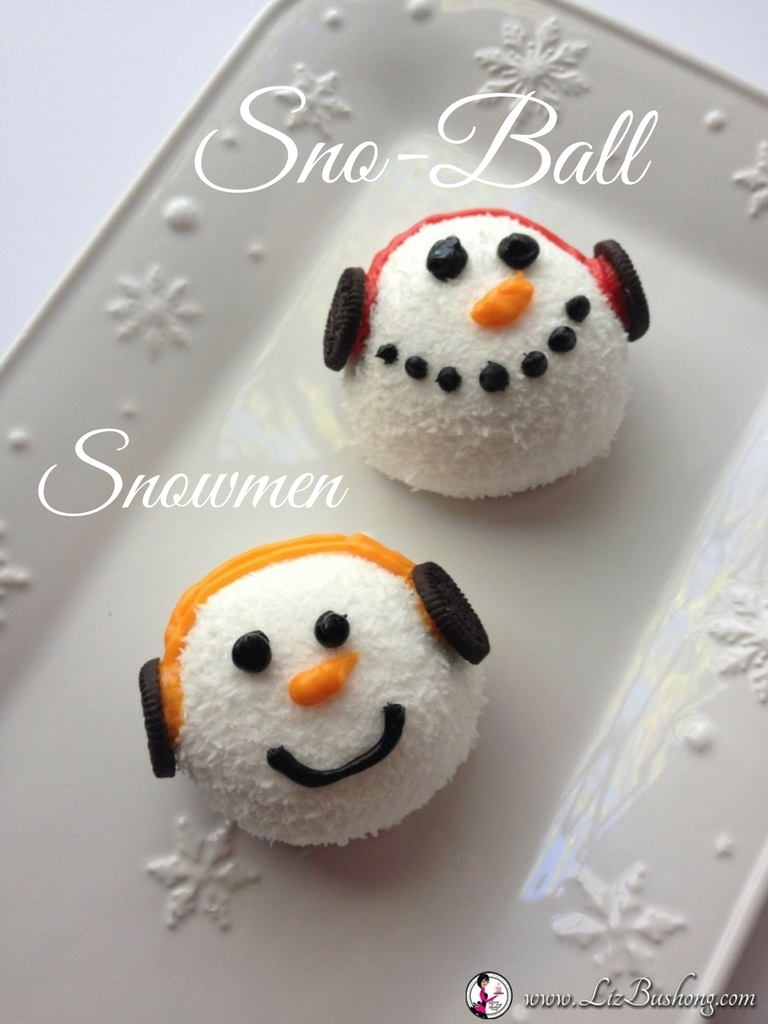 Christmas Cookie Countdown-Sno-Ball Snowman Faces