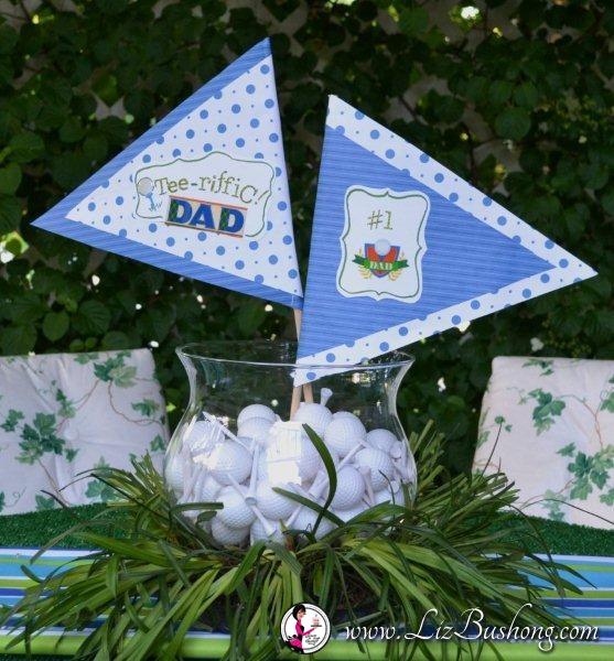 "http://lizbushong.com/wp-content/uploads/2017/01/Fathers-Day""TEE-–-RIFFIC""-Lunch-FORE-Dad-centerpiece-lizbushong.com_.jpg"