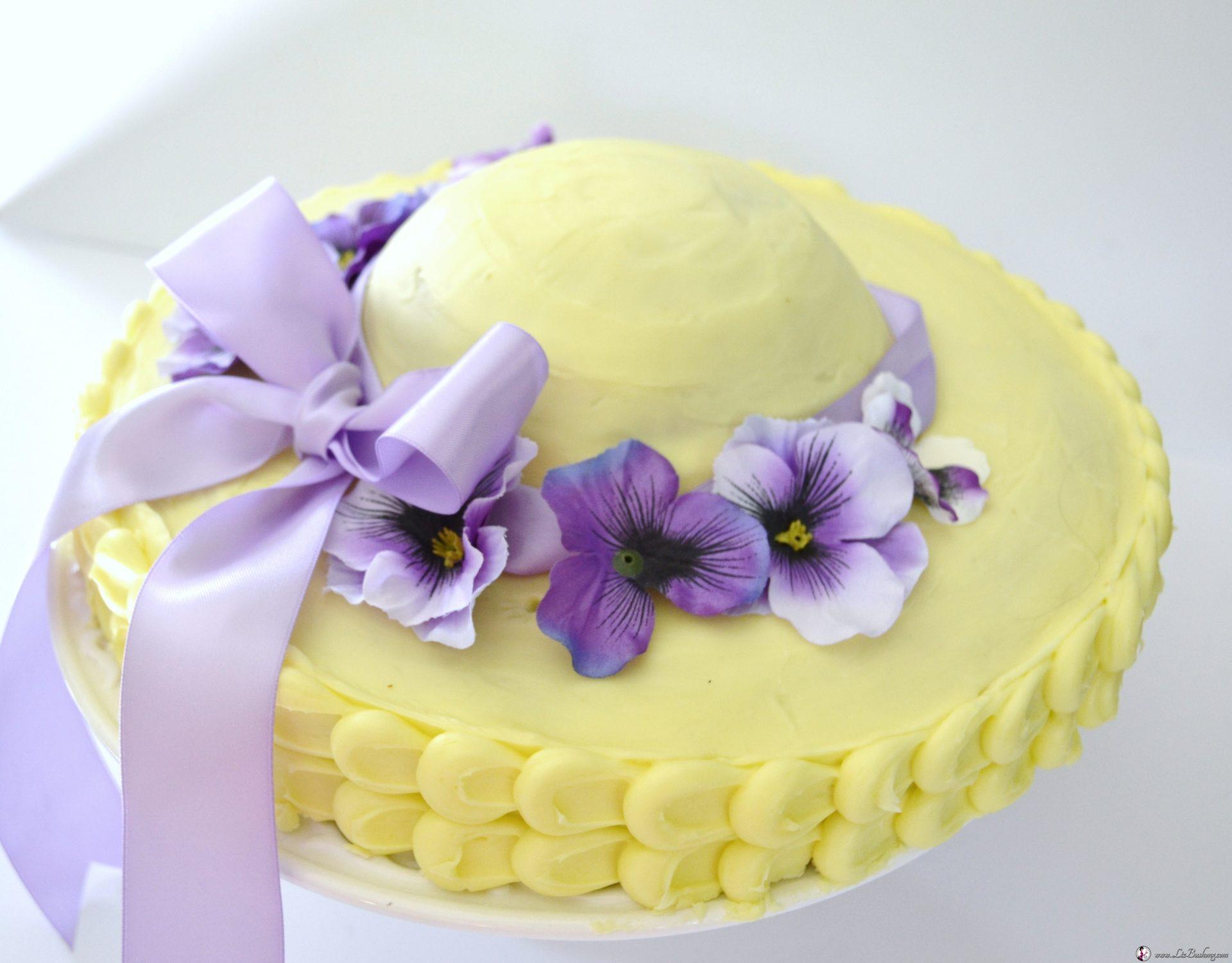 Lemon Marshmallow Easter Hat Cake Recipe - Liz Bushong