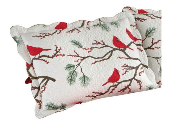 Christmas Shams- Cardinals