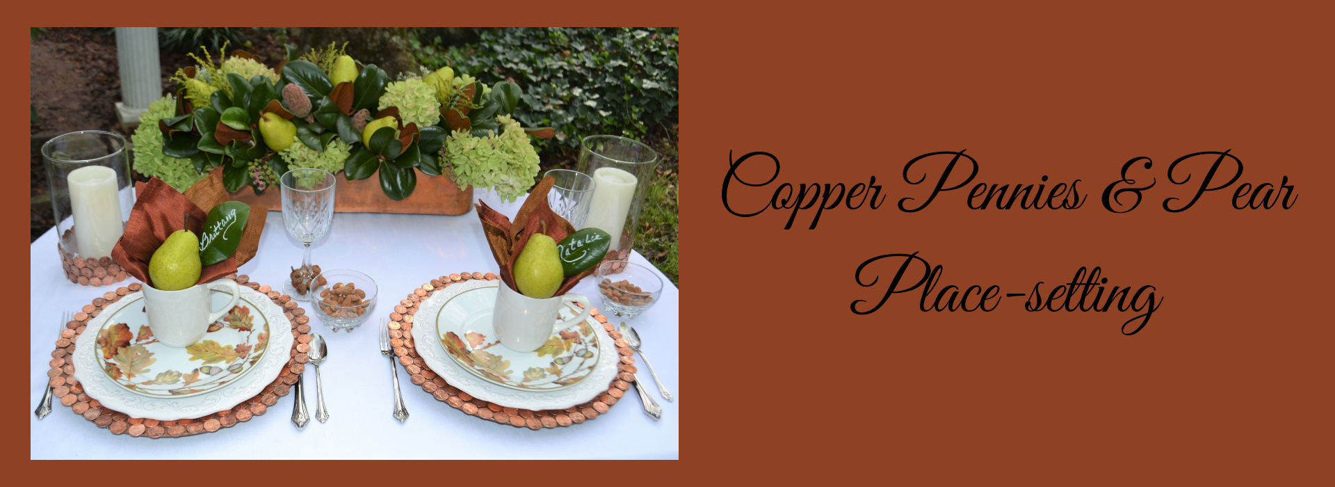 Slider- 1920 x 700 Copper Pennies & Pear Place setting