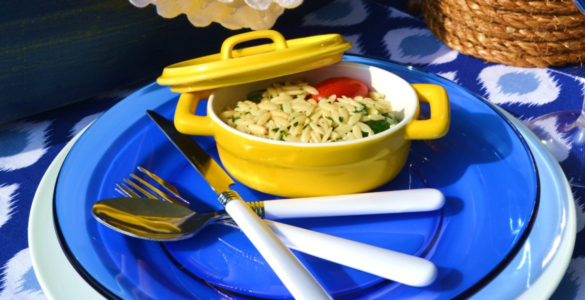 Lemon Spinach Orzo Salad
