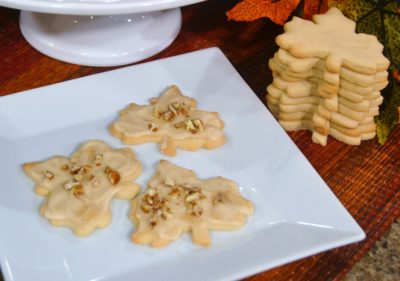 Maple Leaf Cookies with Maple Balsamic Glaze Recipe