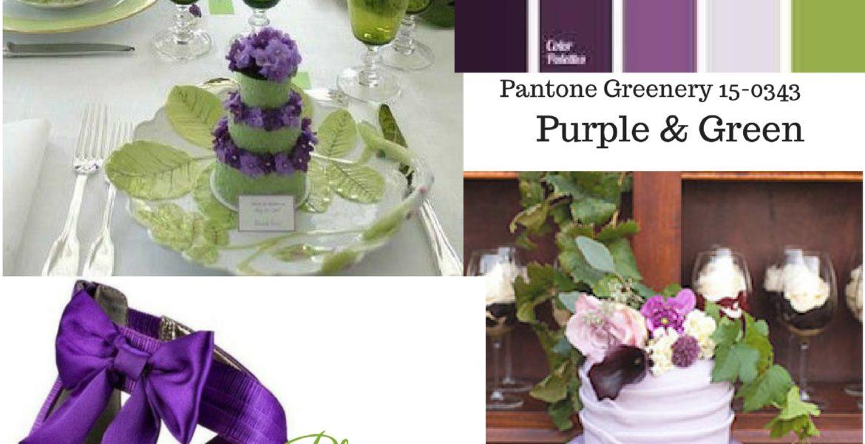 Wedding Inspiration Board-Shades of Purple & Green