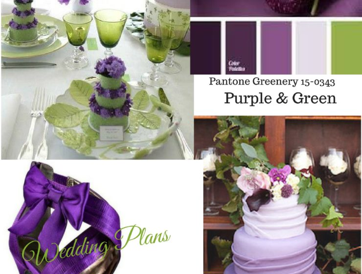 Wedding Inspiration Board-Shades of Purple & Green