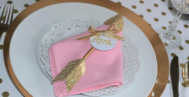 Arrow Dart Napkin Fold-with arrow placecard-lizbushong.com