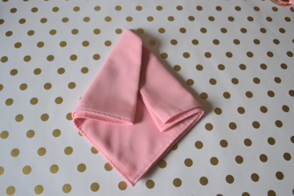 Arrow Dart Napkin-step 4 Fold-Best Pink and Gold tablesetting-lizbushong.com