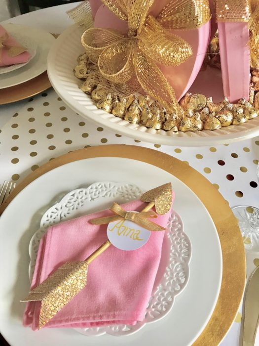 Best Pink and Gold placesetting lizbushong.com
