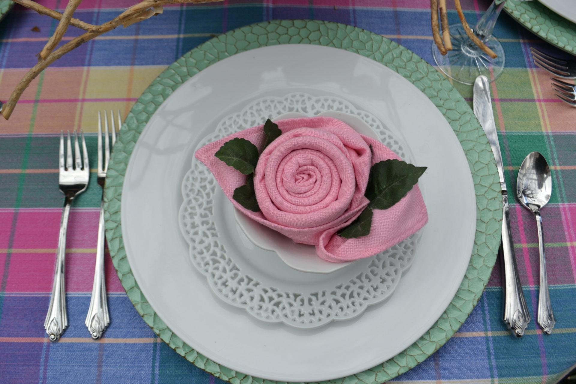 Rose Napkin Fold Diy Liz Bushong