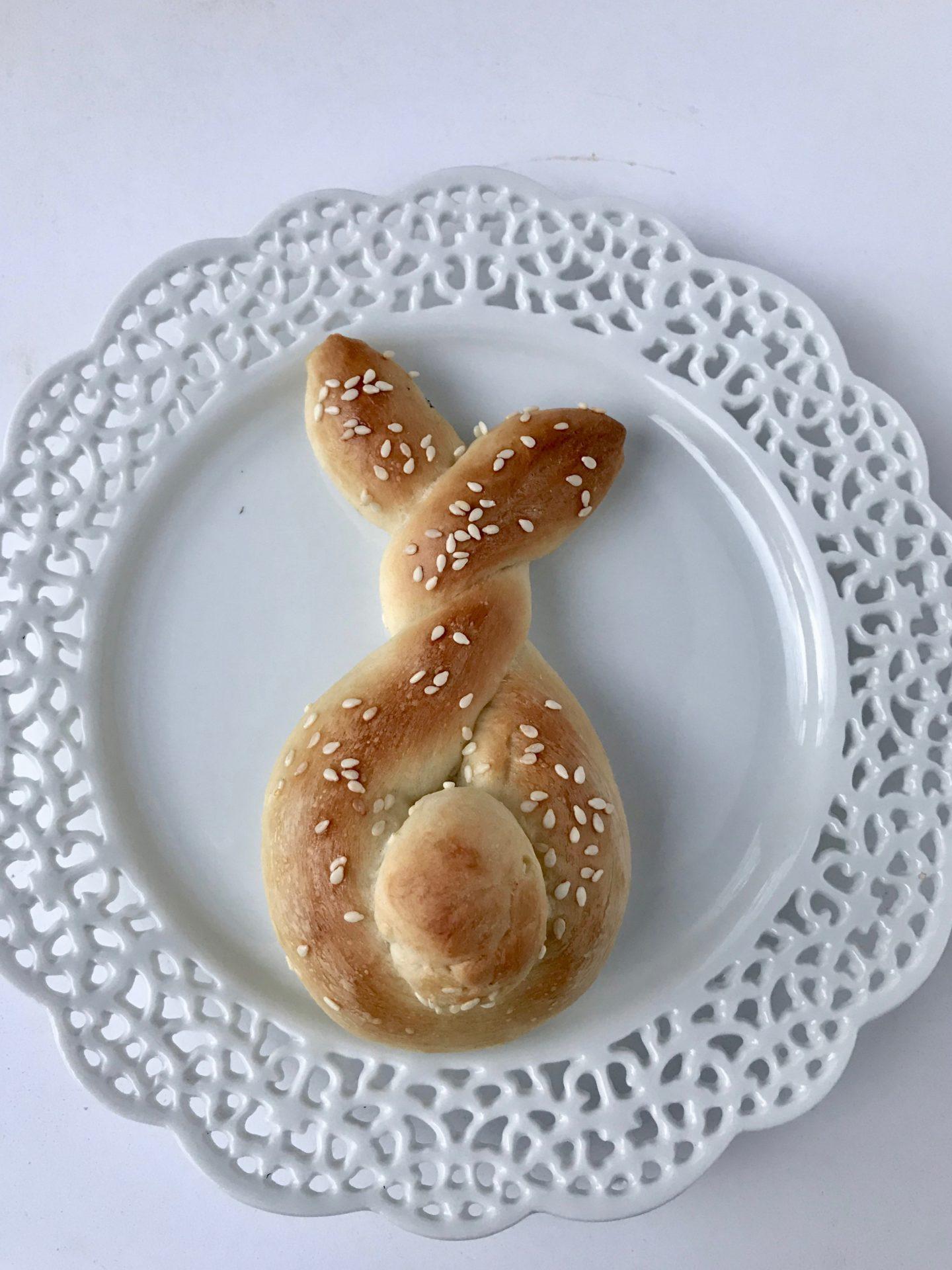 Quick Easter Bunny Shaped Rolls Liz Bushong