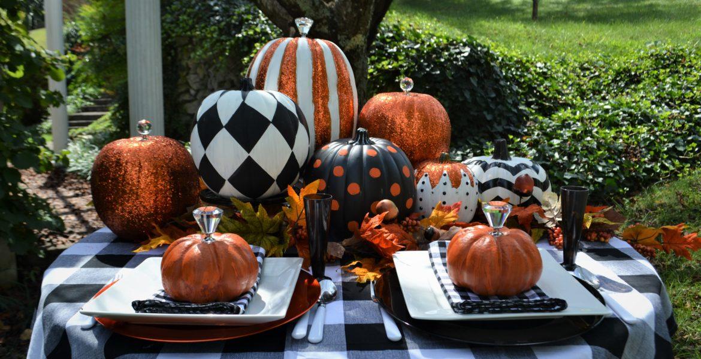 Best Black & White Pumpkin Tablescape-lizbushong.com-9