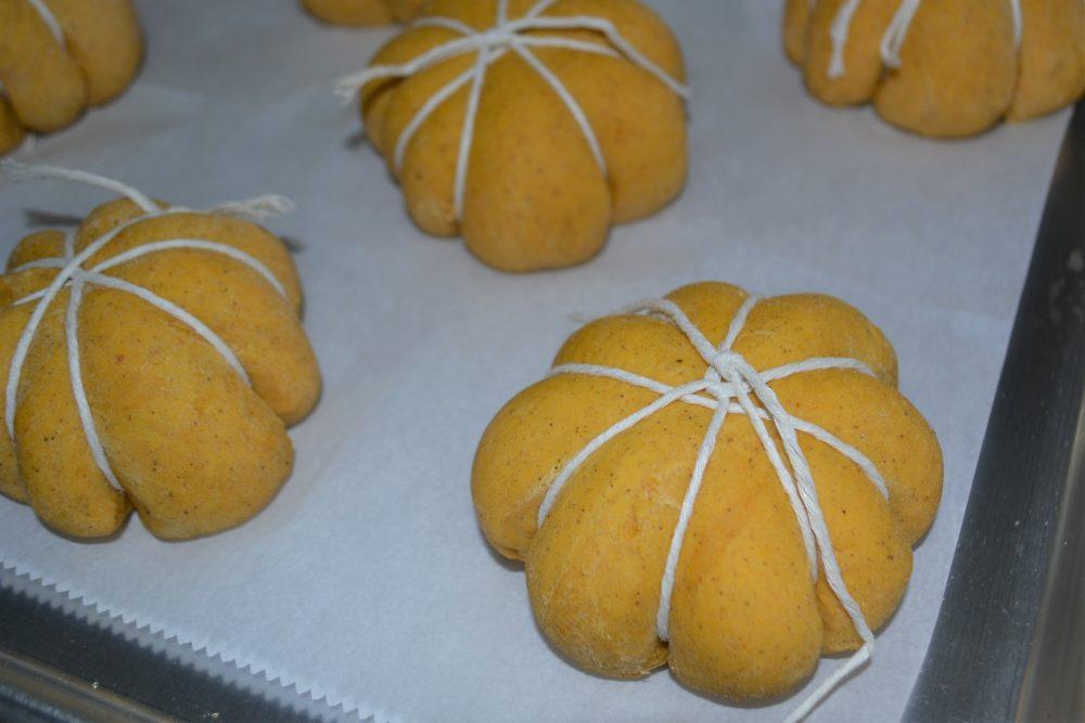 Pumpkin Stuffed Dinner Rolls wrapped-lizbushong.com