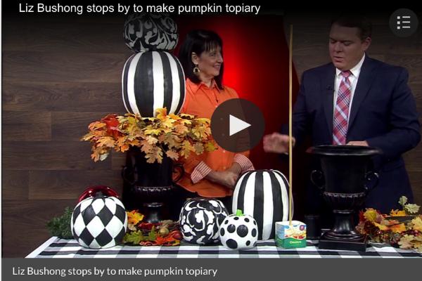 Stacked Pumpkin Topiary|DIY Video