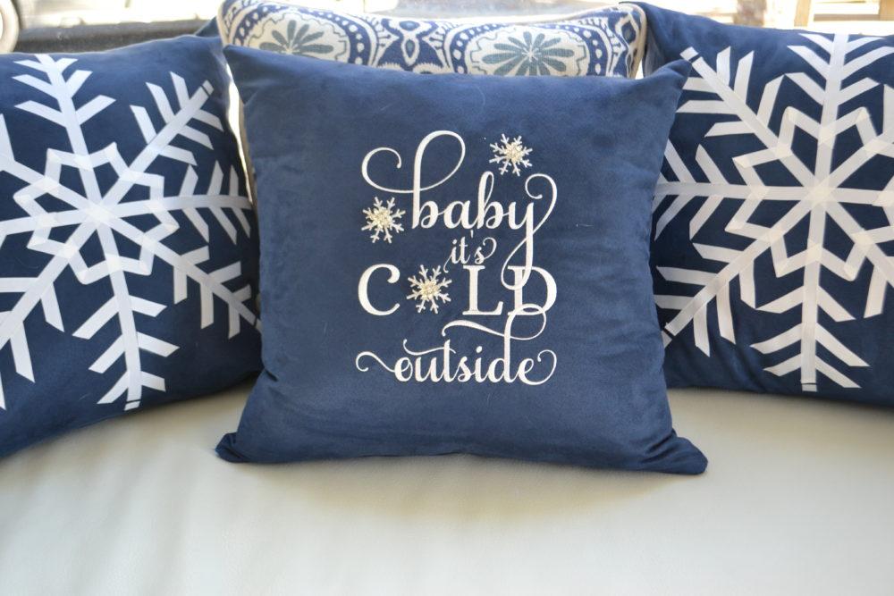 Baby Cold Outside pillow-lizbushong.com