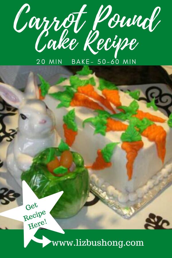 Carrot Pound Cake Recipe lizbushong.com