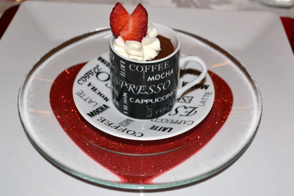 Pots de creme dessert for Valentine Day Tea