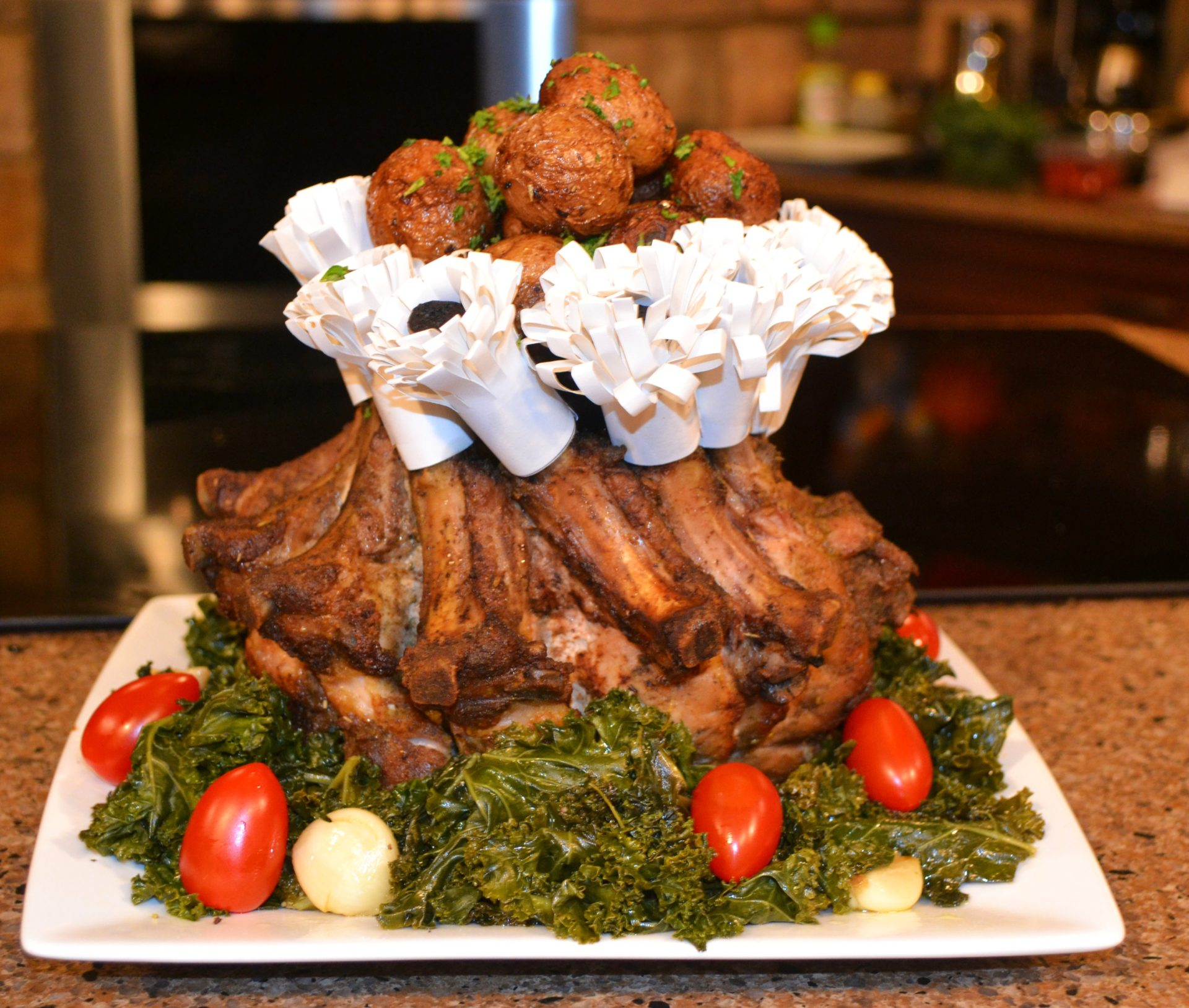 Crown Roast with Frills