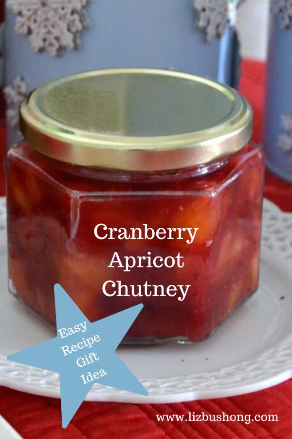 Cranberry Apricot Chutney Recipe LizBushong.com