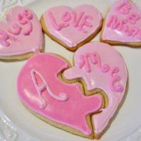 Heart Puzzle Shaped Butter Cookies Recipe lizbushong.com