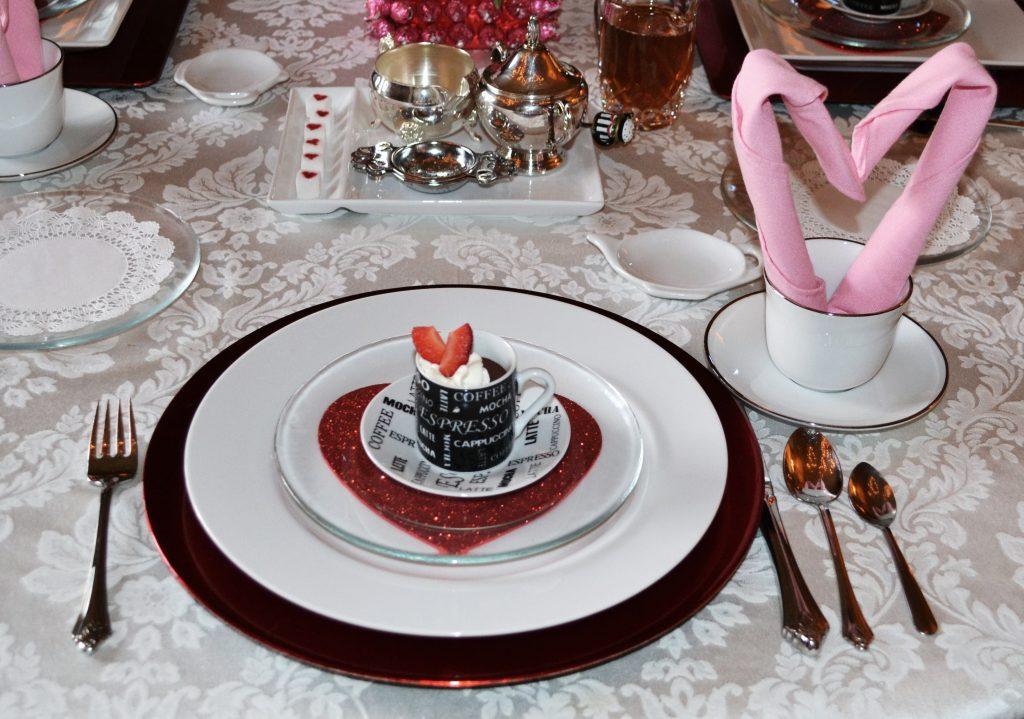 Valentine Napkin Fold & Setting