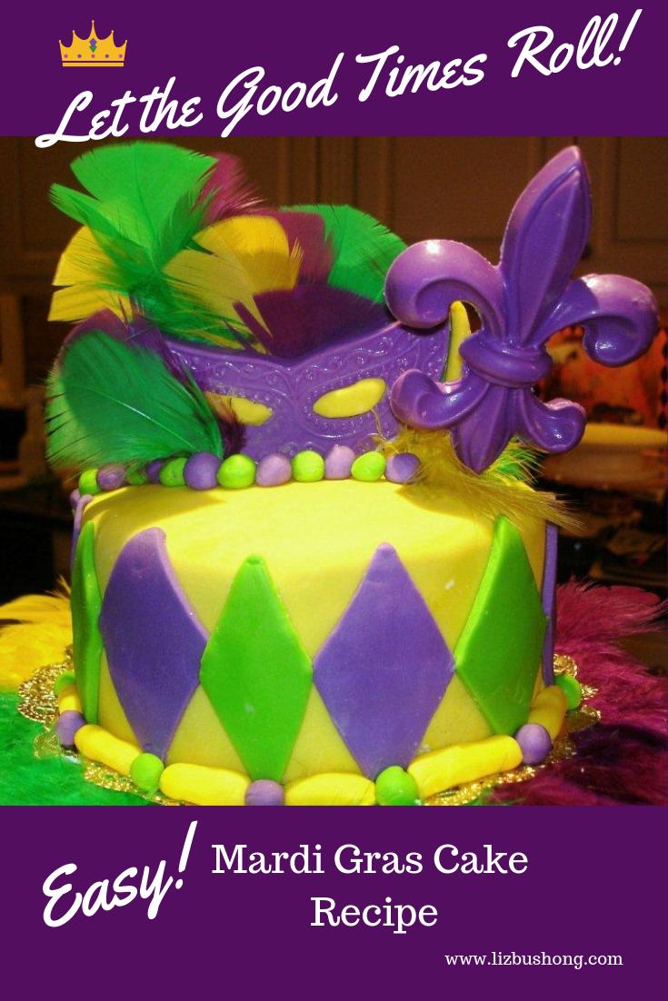 Mardi Gras Cake lizbushong.com