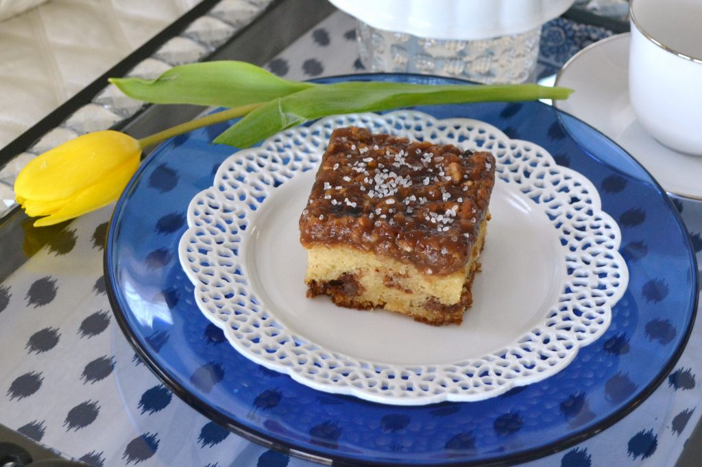 Mothers Day-breakfast in bed menu- pecan coffee cake lizbushong.com