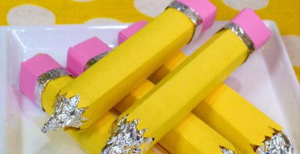 Back to school lunch ideas edible cheese pencils lizbushong.com