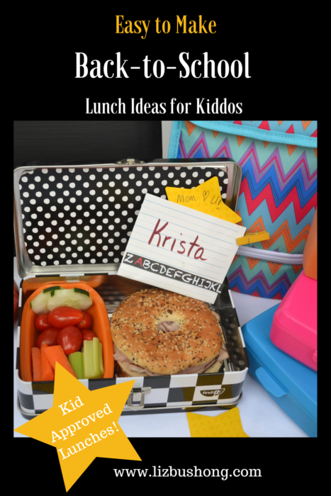 Easy Healthy Back to School Lunch Ideas lizbushong.com